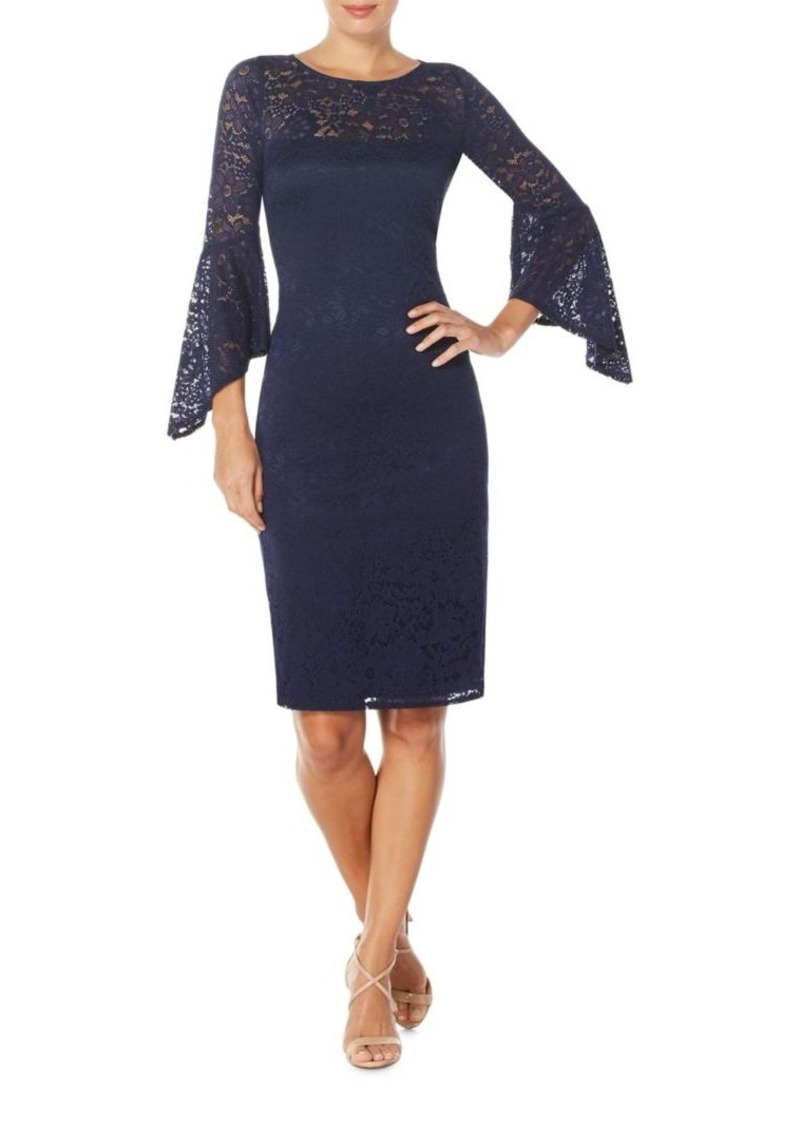 Laundry by Shelli Segal Stretch Lace Cocktail Dress
