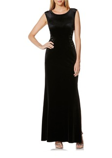 LAUNDRY BY SHELLI SEGAL Stretch Velvet Gown