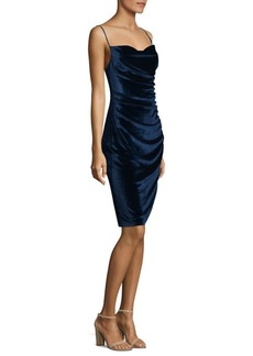 Laundry by Shelli Segal Stretch Velvet Sheath Dress