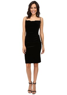 Laundry by Shelli Segal Stretch Velvet Shirred Cocktail Dress