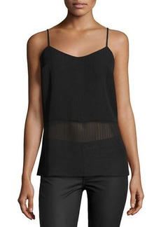 Laundry By Shelli Segal Stripe Pleated Camisole