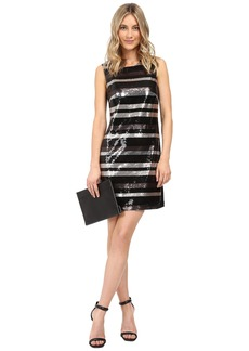 Laundry by Shelli Segal Stripe Sequin Dress