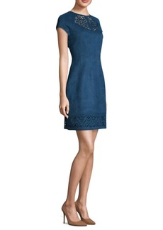 Laundry by Shelli Segal Suede Scuba Sheath Dress