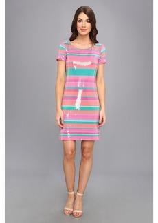 Laundry by Shelli Segal Sugar Stripe Sequin Dress