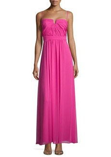Laundry by Shelli Segal Sweetheart Sleeveless Pleated Gown