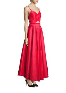 Laundry by Shelli Segal Taffeta Cutout Gown