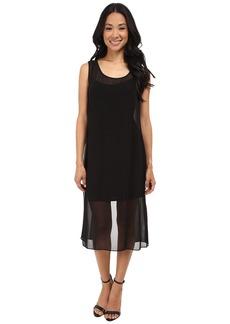 Laundry by Shelli Segal Tank Dress with Chiffon Overlay