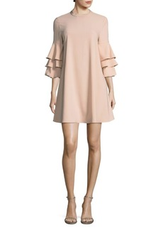 Laundry by Shelli Segal Three-Tier Sleeve Dress