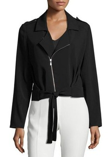 Laundry By Shelli Segal Tie-Front Crepe Jacket