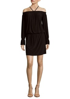 Laundry by Shelli Segal Tie-Neck Off-The-Shoulder Dress