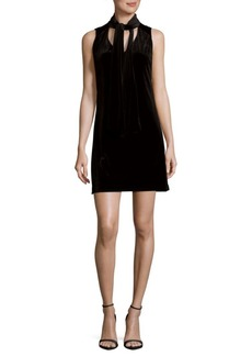 Laundry by Shelli Segal Tie Neck Sleeveless Dress