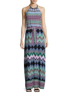 Laundry By Shelli Segal Tied-Knot Print Maxi Dress