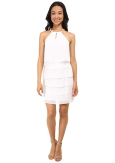 Laundry by Shelli Segal Tiered Chiffon Cocktail Dress