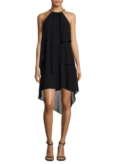 Laundry by Shelli Segal Tiered Chiffon Halter Dress