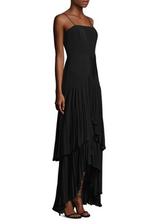 Tiered Pleated Gown