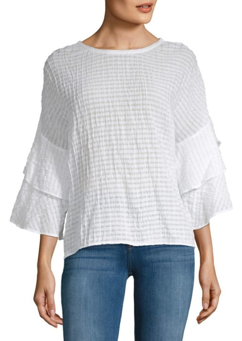 Laundry by Shelli Segal Tiered Ruffle-Sleeve Top