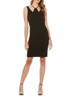 Laundry by Shelli Segal Tonal Stitched Sheath Dress