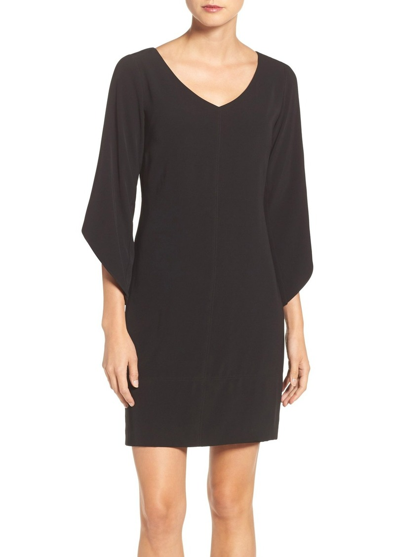 Laundry by Shelli Segal Tulip Sleeve Crepe Shift Dress