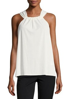 Laundry By Shelli Segal Twist-Back Halter Tank