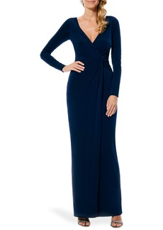Laundry by Shelli Segal Twist Front Jersey Gown (Nordstrom Exclusive)