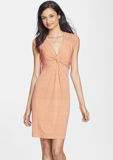 Laundry by Shelli Segal Twist Front Matte Jersey Dress
