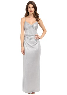 Laundry by Shelli Segal Twist Front Metallic Dress