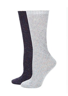 Laundry by Shelli Segal Two-Pack Heathered Boot Socks