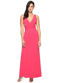 Laundry by Shelli Segal V-Neck Gown w/ Cut Outs