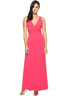 V-Neck Gown w/ Cut Outs