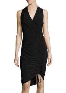 Laundry By Shelli Segal V-Neck Ruched Drawstring Sheath Dress
