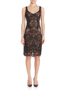 Laundry by Shelli Segal V-Neck Two Tone Lace Dress