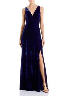 Laundry by Shelli Segal V-Neck Velvet Gown - 100% Exclusive