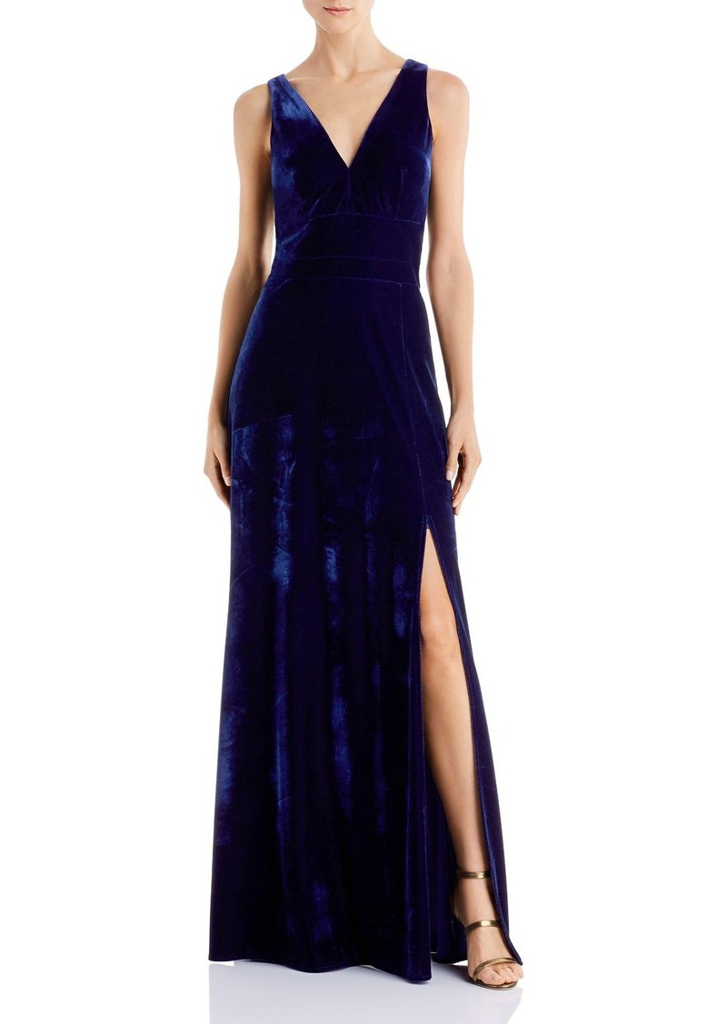 Laundry by Shelli Segal V-Neck Velvet Gown - 100% Exclusive