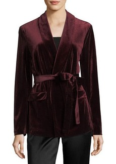 Laundry By Shelli Segal Velvet Jacket w/Belt