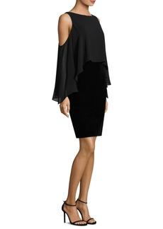 Laundry by Shelli Segal Velvet Midi Cold-Shoulder Dress