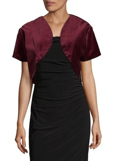 Laundry by Shelli Segal Velvet Short-Sleeve Bolero