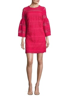 Laundry by Shelli Segal Venise Bell Sleeve Lace Dress