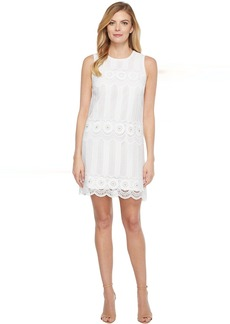 Laundry by Shelli Segal Venise Dress w/ Metal Eyelet Details