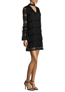 Laundry by Shelli Segal Wide Pleated Choker Dress