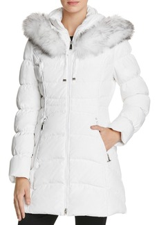 Laundry by Shelli Segal Windbreaker Faux Fur Trim Coat