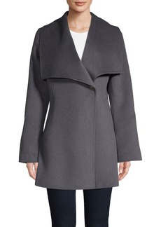 Laundry by Shelli Segal Wing-Collar Walker Coat