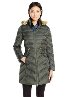 Laundry by Shelli Segal Women's 3/4 Coat With Diamond Detail At Waist  L