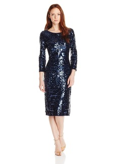 laundry BY SHELLI SEGAL Women's All Over Sequin Mesh Dress