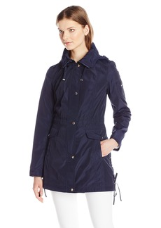 Laundry By Shelli Segal Women's Anorak with Corset Side Ties