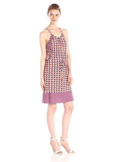 laundry BY SHELLI SEGAL Women's Art Deco Dots Jersey Blouson Dress