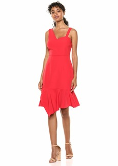 LAUNDRY BY SHELLI SEGAL Women's Asymmetrical Core Cocktail Dress
