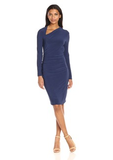 Laundry by Shelli Segal Women's Asymmetrical Neckline Sheath Dress