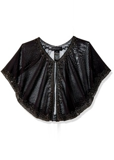 LAUNDRY BY SHELLI SEGAL Women's Beaded Capelet Accessory -black one size