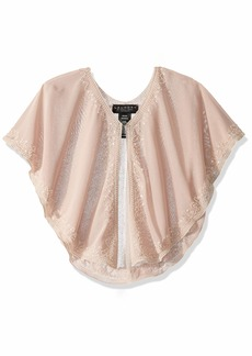 LAUNDRY BY SHELLI SEGAL Women's Beaded Capelet Top blush