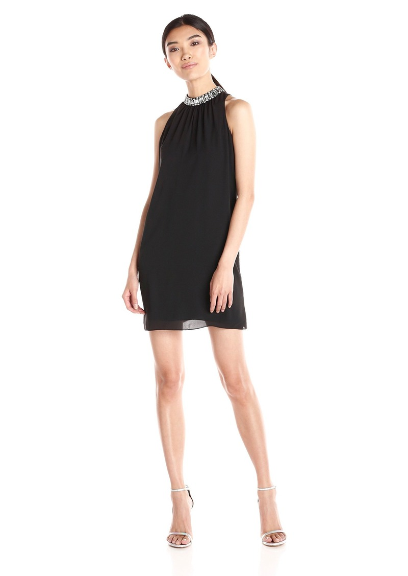 laundry BY SHELLI SEGAL Women's Beaded Neck Cocktail Dress
